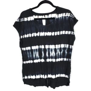 Marika Balance Collection Sz L Black Tie-Dye Tee